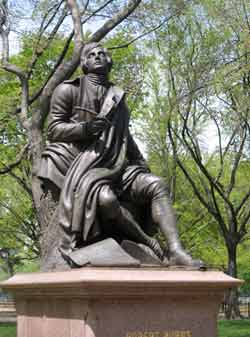 Robert Burns statue in Central Park, NYC